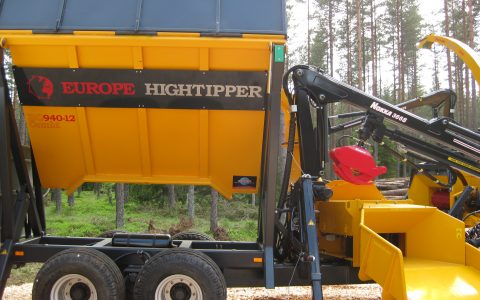 Europe Chippers DC PTO Crane TIPPER