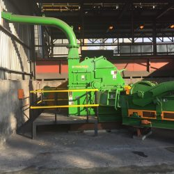 Precision Metallurgical Chipper for big wood chips